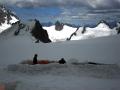Campamento en Alpes