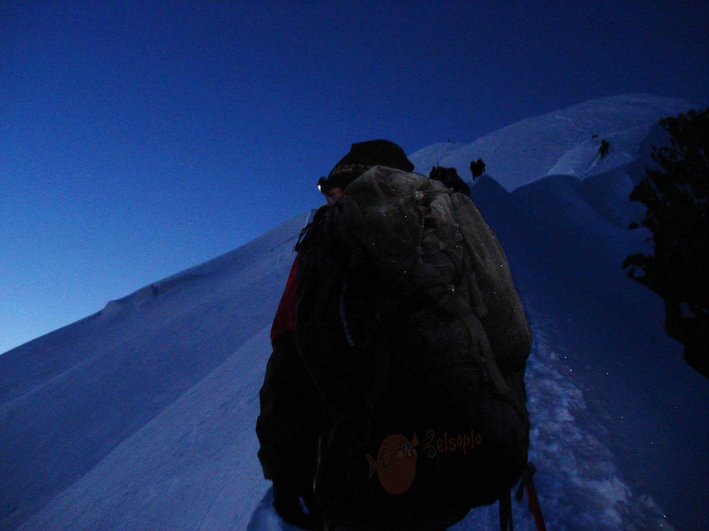 Amanecer hacia el Mont Blanc