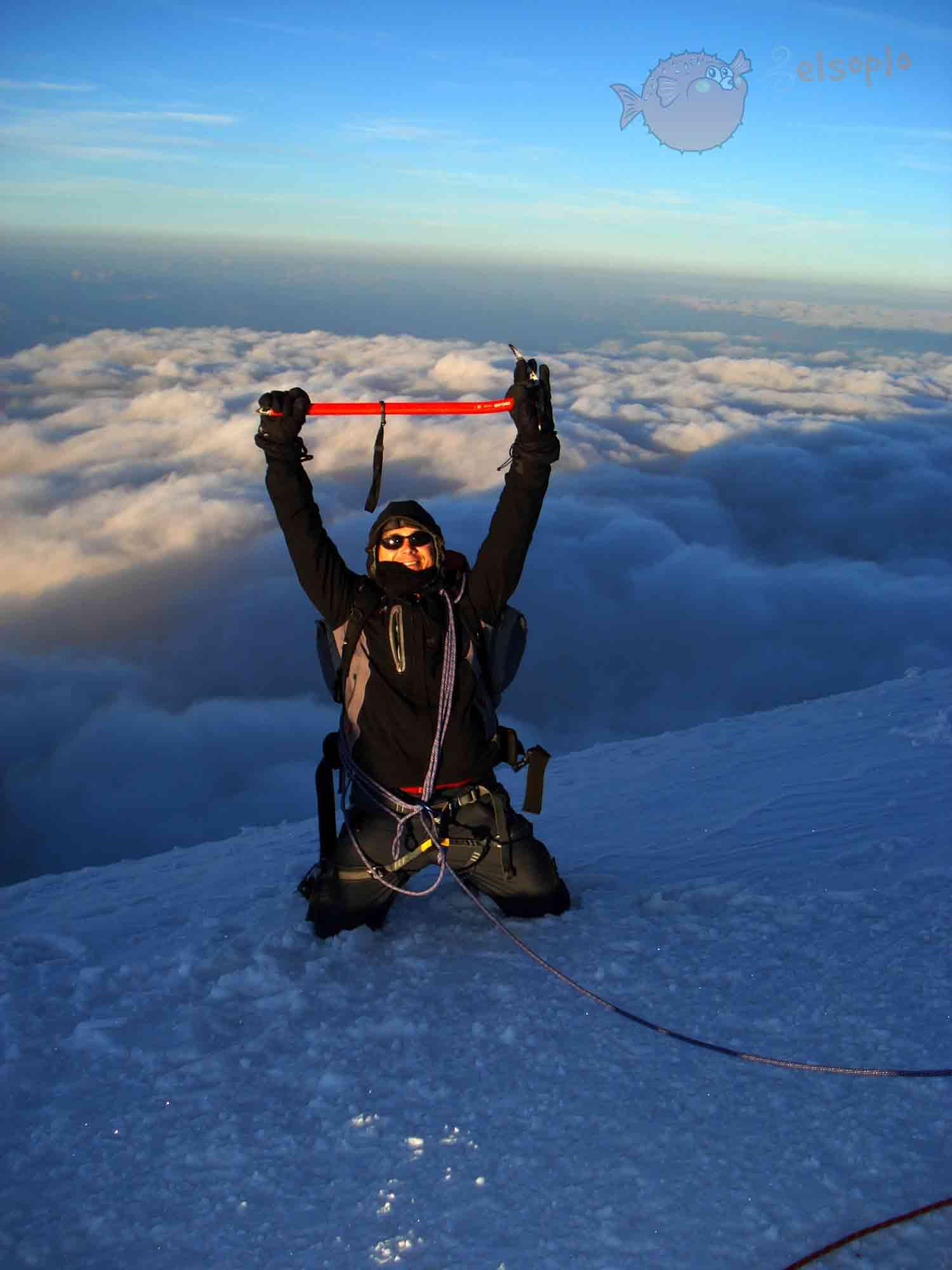 Mont Blanc (4.810 metros). Cumbre más alta de Europa
