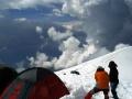 Campamento base cerca del refugio Gouter (3.817 metros)