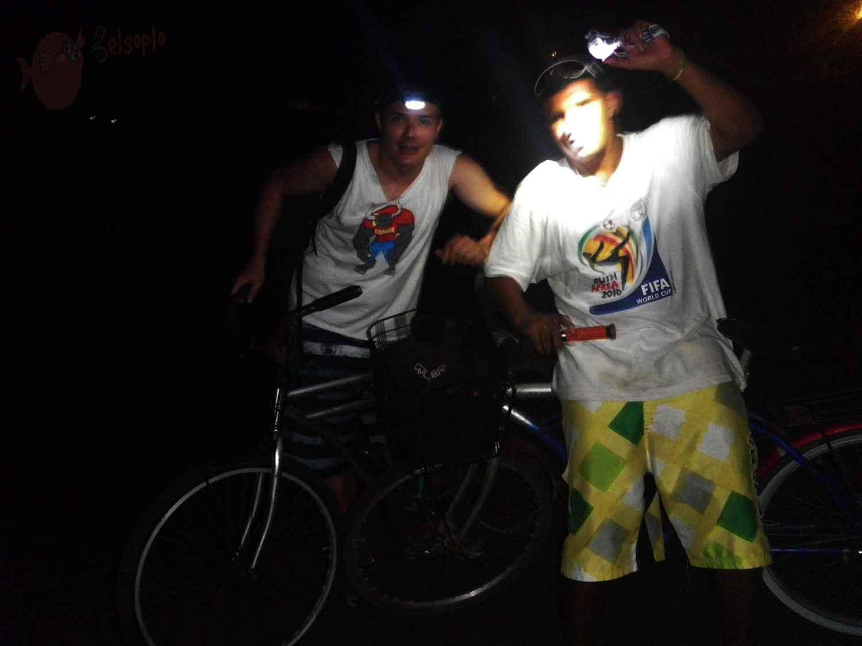 Ruta nocturna en bici