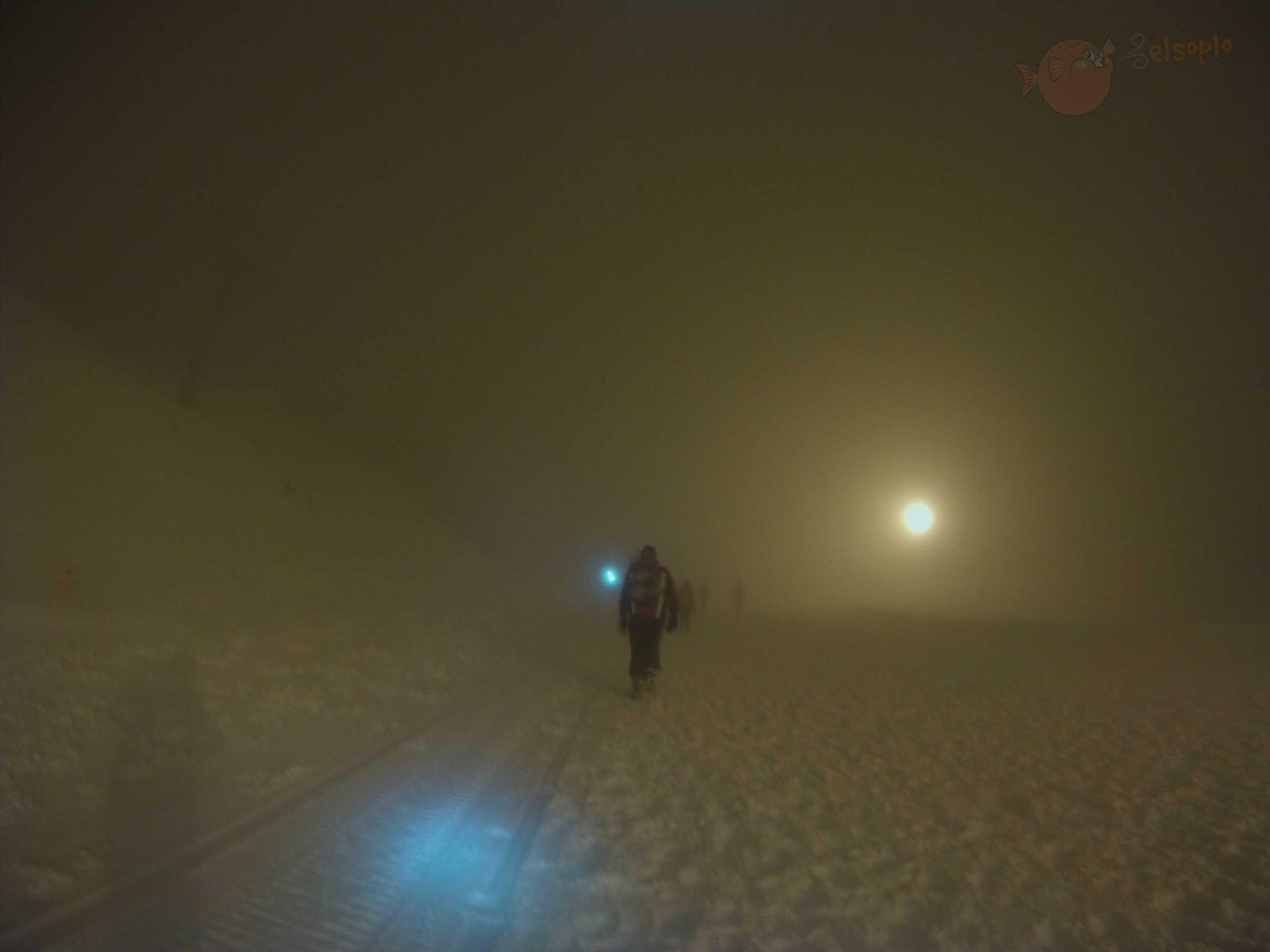 Noche en carrera